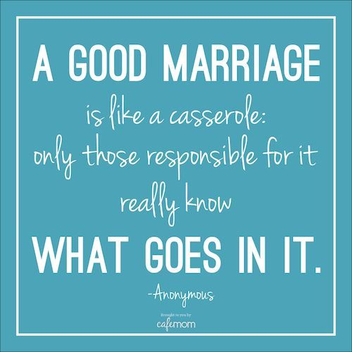 "Agreed! The ""recipe"" for a happy marriage is not the same for everyone, either. Click for more funny marriage quotes."