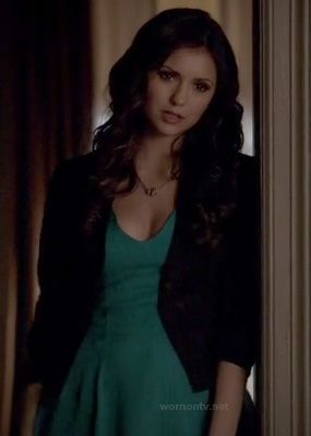 Elena's teal green dress on The Vampire Diaries.  Outfit Details: http://wornontv.net/16144/ #TheVampireDiaries