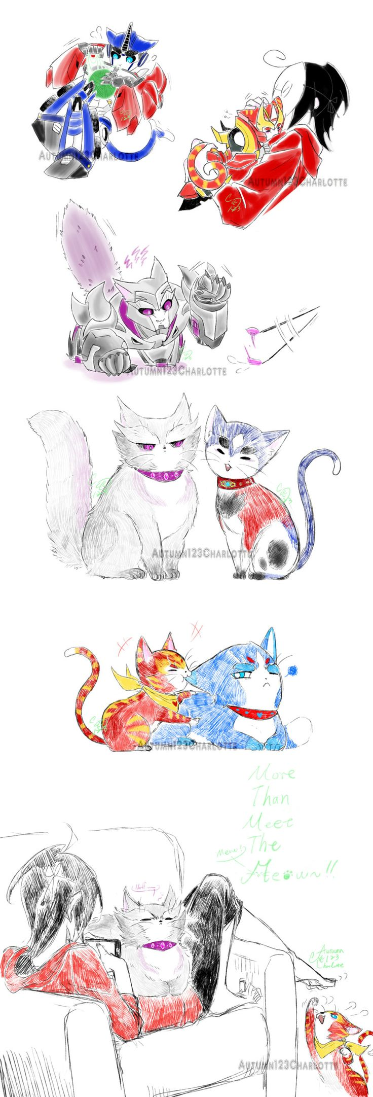 Part 1 2 Yoyoyo Three Here This Time Are Cons Cats In Want A Screamy So Is Her And Enjoy The Meow Power XDDD
