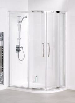 £511.20 GOOD REC. Single Rail Offset Quadrant › Semi-Frameless Shower Enclosures › Classic Collection › Lakes Bathrooms