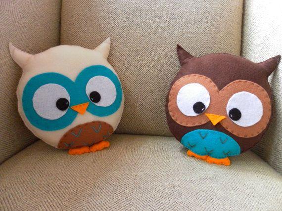 Felt Owl Pillows!