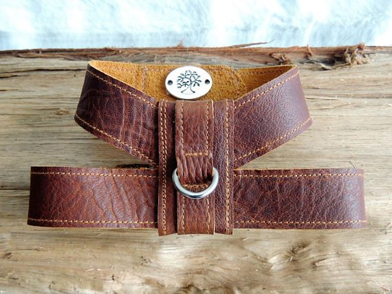 Small Dog Harness Worn Brown Leather Dog Harness Small Pet