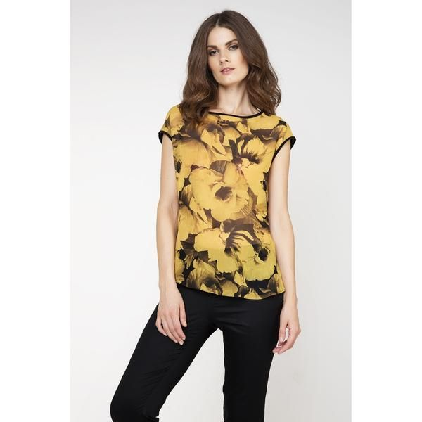 .Sleeveless Print Top