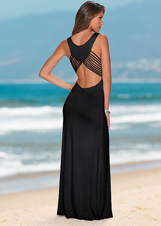 Don't worry we had the same reaction as you. WOW! Venus back detail maxi dress.