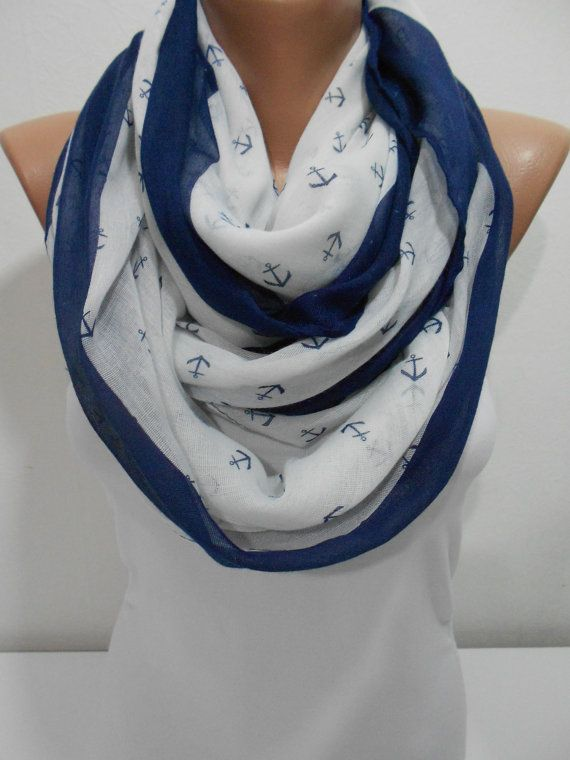 Anchor Scarf Shawl Beach Wrap Nautical Scarf Pareo by ScarfClub, $16.90. For those cool nights by the #coast.