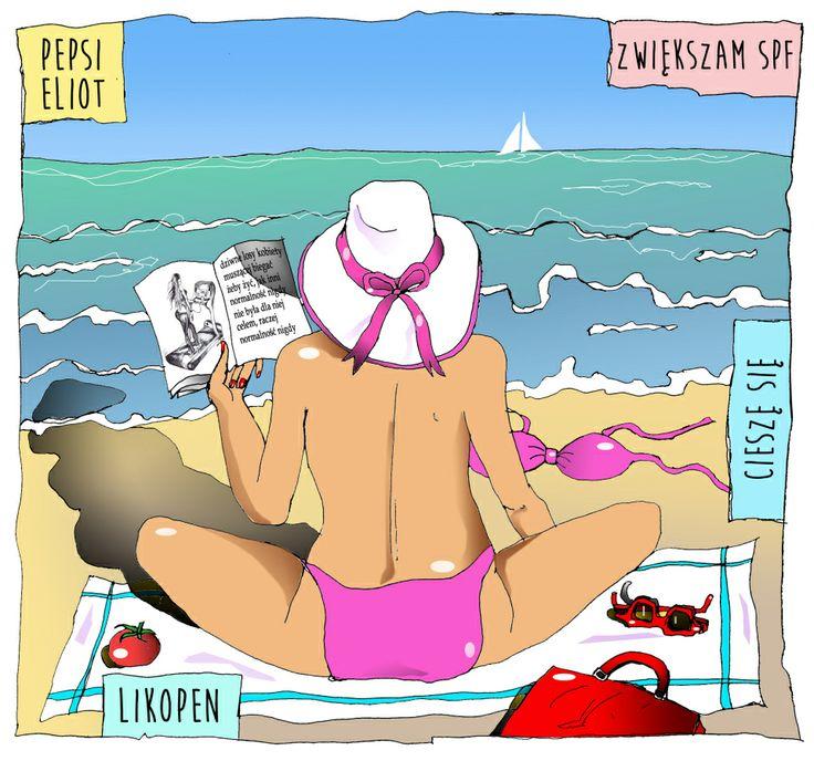 Plażowanie bez chemii? To musi być jakiś koszmar. Joanna Filtrciara.  #opalaniebezkremów #naturalneplażowanie