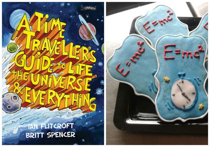 A Time Traveller's Guide to Life, the Universe and Everything! Einstein inspired cookies! Eat yourself smart :-)