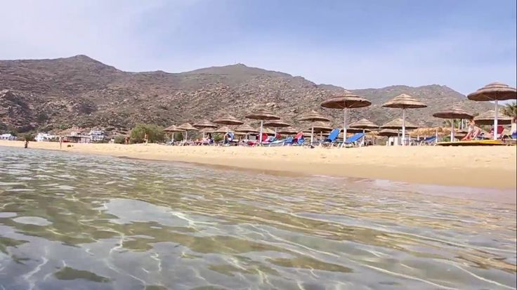 The gorgeus beach of Mylopotas in #Ios #island! Long, sandy with crystal clear waters, plenty of beach bars and water sport facilities, just 250 meters from Island House Hotel & Island House Mare. Visit www.islandhouse.gr