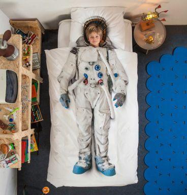 """HEIMATDESIGN SHOP - Bettwäsche """"Astronaut"""" 135x200cm 1605"""