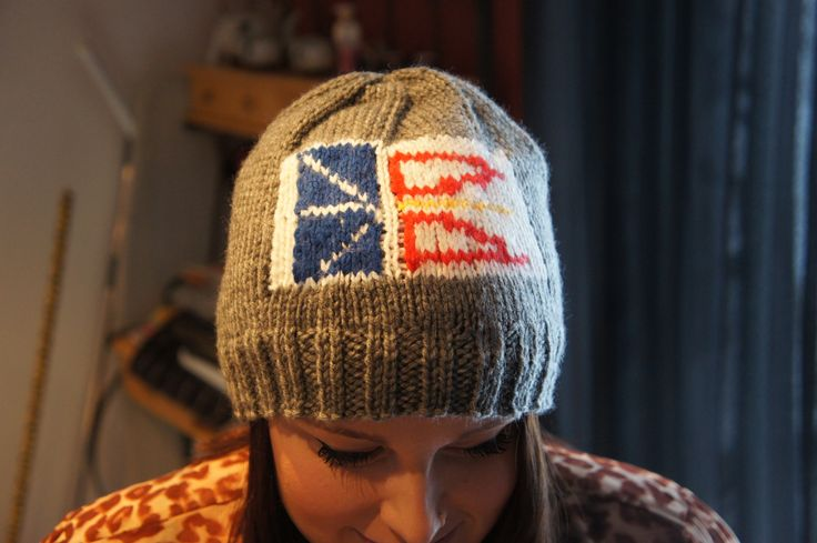 Knitted hat my mother made :) love it!