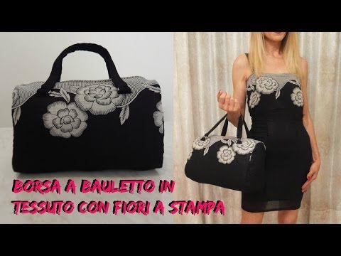BORSA A BAULETTO IN TESSUTO CON FIORI A STAMPA - NUNZIA VALENTI - YouTube