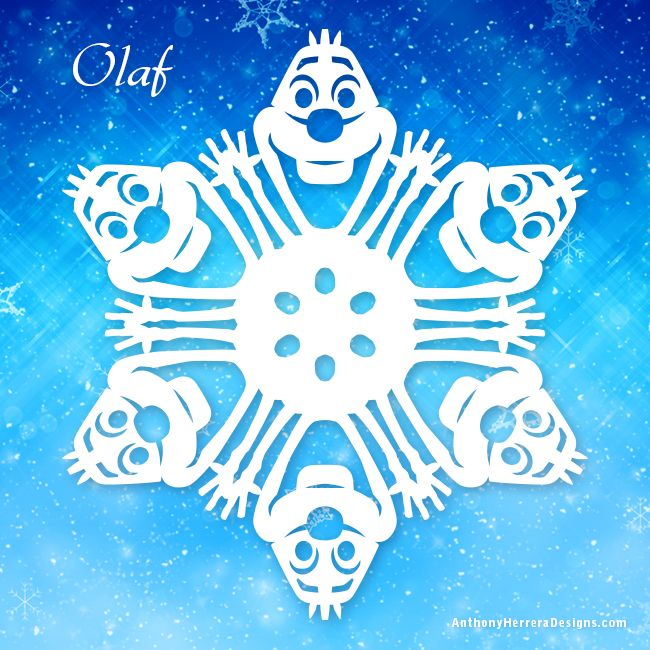 Frozen snowflakes-Olaf-preview  http://anthonyherreradesigns.com/index.php/snowflake-patterns/frozen-snowflakes