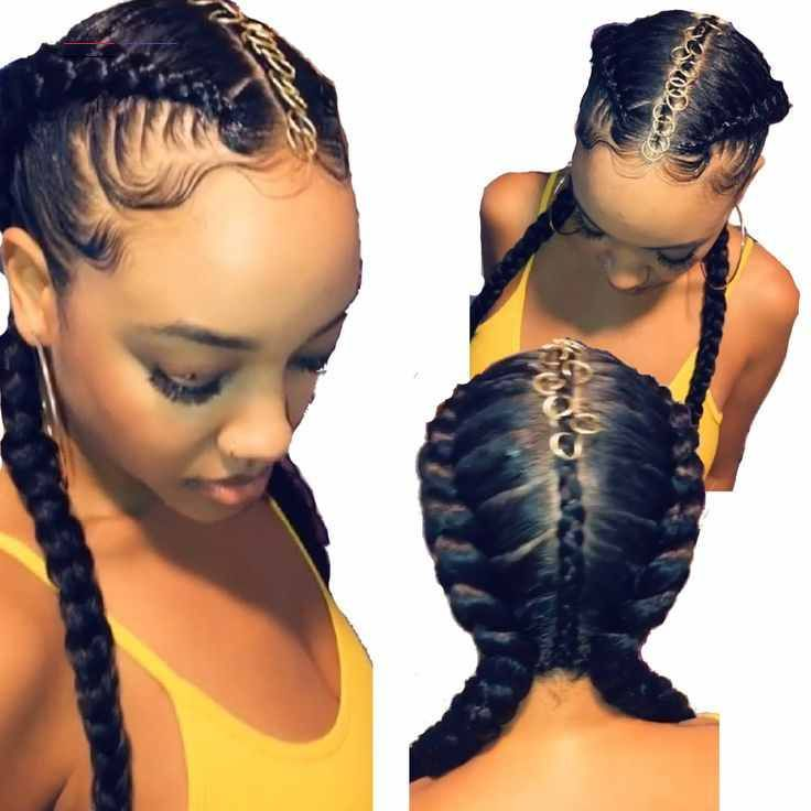 Zig Zag Hairstyle For Kids In 2020 Braid Styles Braided Hairstyles Kids Braided Hairstyles