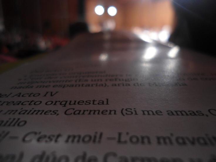 Que buena fotos nos envia Stephany Ramírez desde Facebook. Corresponde al concierto Arias, duetos y fragmentos orquestales de la ópera Carmen de Georges Bizet - Noviembre 10 de 2012.