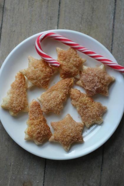 Recept voor bladerdeegkoekjes met suiker en kaneel