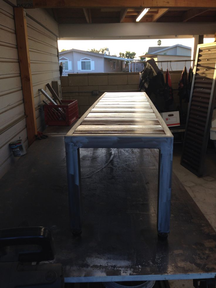 Custom fabricated bench.