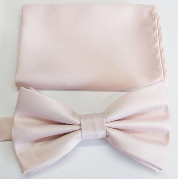 b6341fc1e3c90 Mens Bow Tie Angel Blush Whisper Pink Solid Banded Adjustable Neck Pre Tied  Bow Tie