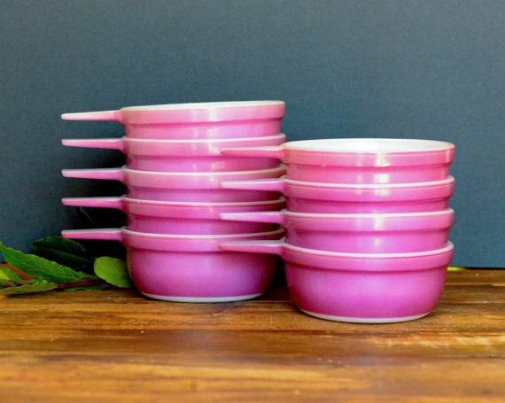 Agee/Crown Pyrex purple ramekins set of nine by ThatRetroPiece, $45.00