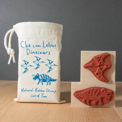 Dinosaur rubber stamp set