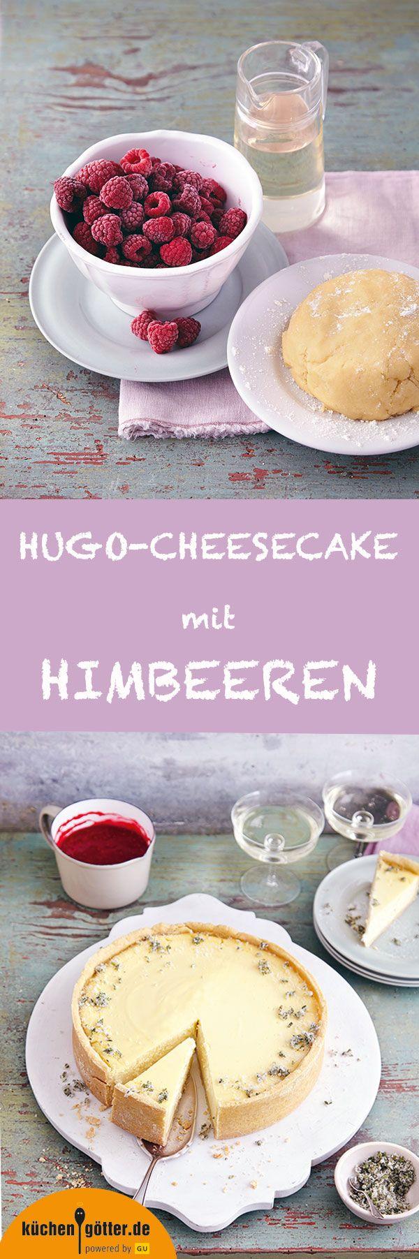 Hier kommt große Konkurrenz für den New York Cheesecake: unsere Rezept für Hugo-Cheesecake mit Himbeeren. Denn eines ist doch ganz klar: Was als Cocktail begeistert, schmeckt auch als Kuchen einfach h