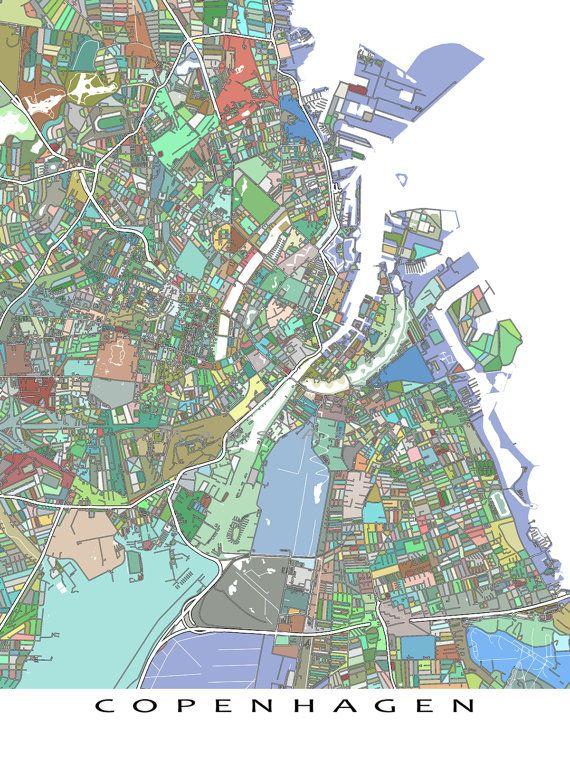 Copenhagen Poster / Copenhagen Map / Copenhagen by MapsAsArt