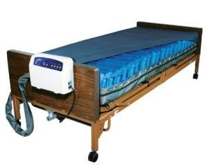 Drive Medical Med Aire Low Air Loss Mattress Replacement System With Alarm Blue