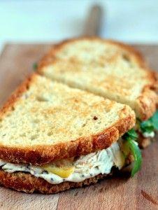 sandwich de pavo y manzana