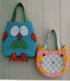 Moldes Para Artesanato em Tecido: molde coruja e gato: Cute Animal, Kids Bags, Crafts Bags, Bags Patterns, Totes Bags, Summer Bags, Owl Bags, Owl Patterns, Sewing Patterns