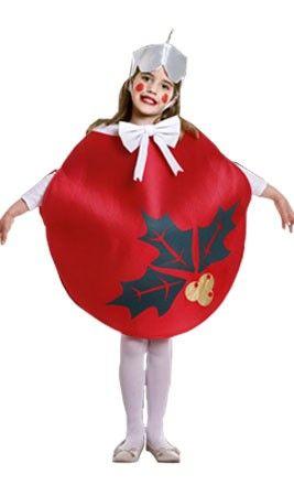 Disfraz Bola Navidad Roja Infantil Tallas 3 9 Anos Vestidos - Disfraces-de-nios-de-navidad