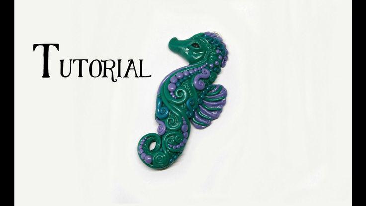 Polymer Clay Seahorse DIY Pendant | Fantasy Crafts | Fimo, Premo, Sculpey
