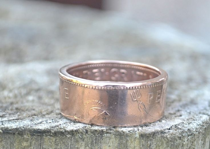 Hand Made One Penny Coin Ring by HandMadeCoinRing on Etsy