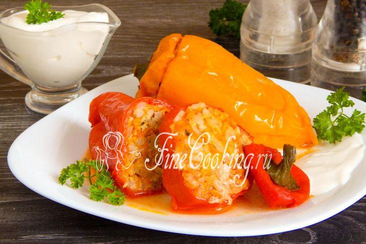 Фаршированный перец с мясом и рисом - рецепт с фото