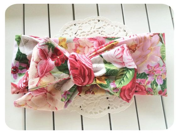 baby headwrap | Ava Baby Girl Headwrap | vintage look top knot headband for babies, toddlers and Adults Made from Designer Fabric by AllureHandmade