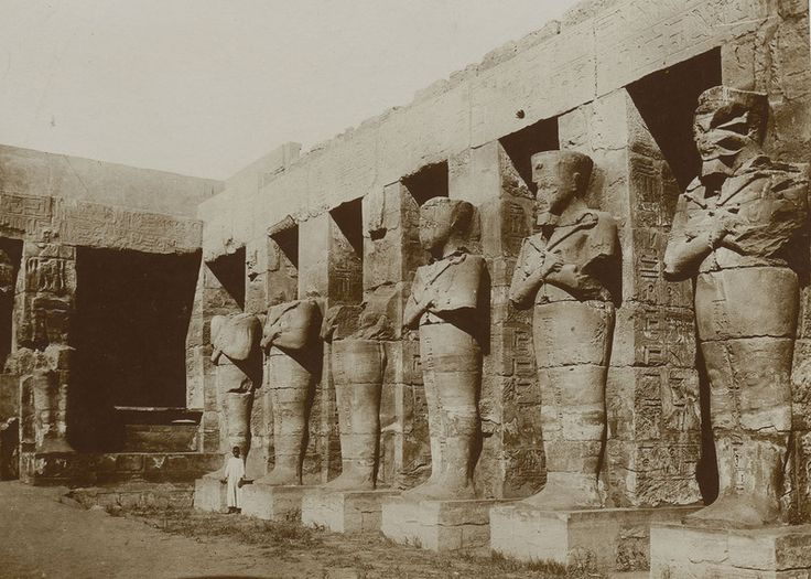 Osiride pillars - usually engaged can be identified by the crossed arms....image of the God Osiris.