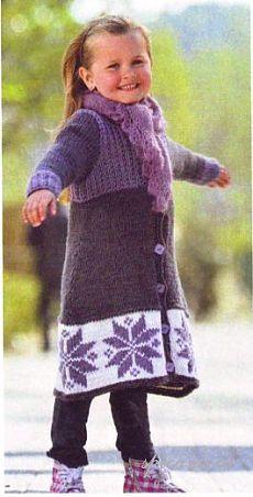 Вязание пальто для детей - Вязание для детей - Последние схемы и модели для крючка и спиц - Вязание для души