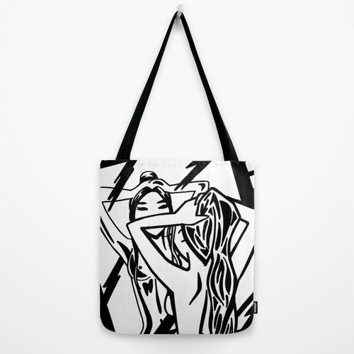 """Look"" Tote Bag (Bolso) (16"" x 16"") 