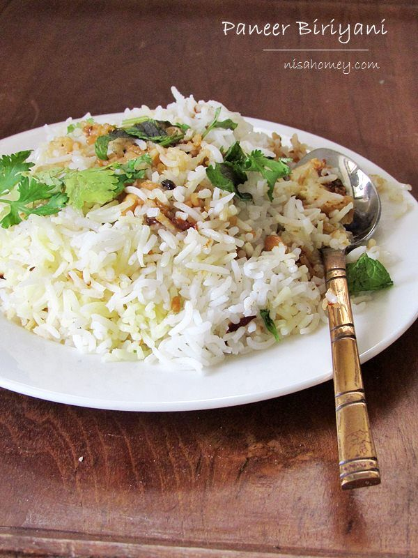"Paneer ""Dum"" Biriyani Recipe, easy to make paneer biriyani from scratch! #paneer #biriyani #india #cheese #rice #indiancuisine"