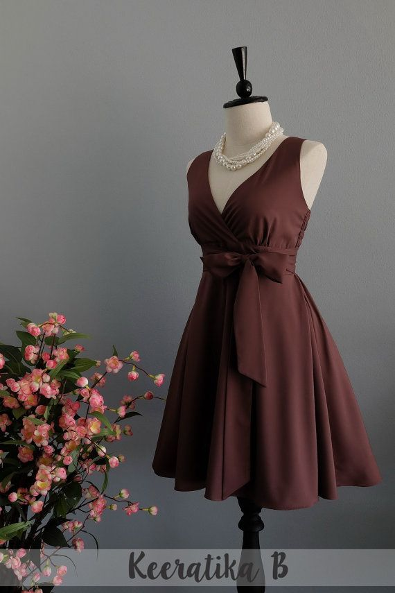 My Lady II Spring Summer Sundress Dress Chocolate Brown Party Dress Choco Brown…