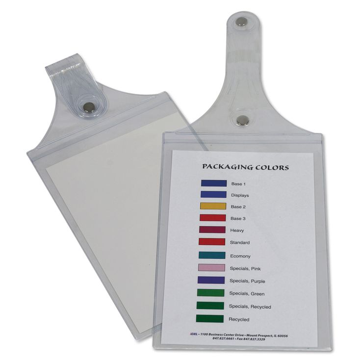 """C-Line Magnetic Hanging Job Ticket Holders Clear 6"""" x 9"""" 15ct"""