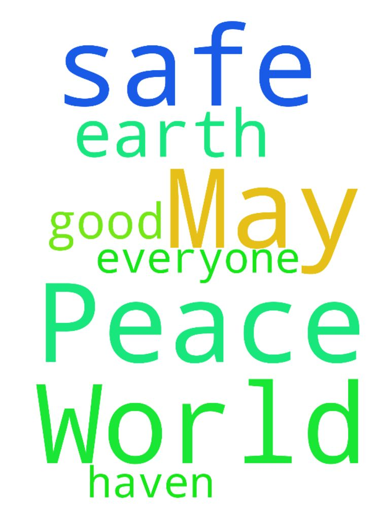 I pray for World Peace Lord. May this earth be a safe - I pray for World Peace Lord. May this earth be a safe haven. For everyone. Please my good Lord. Thank you. Amen. Posted at: https://prayerrequest.com/t/O2a #pray #prayer #request #prayerrequest