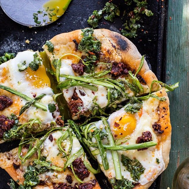 I will never grow up. I'll be the grandma allowing chocolate for breakfast. This is Springtime Pizza with Chipotle Romesco, Eggs Shaved Asparagus Salad by the awesome @halfbakedharvest. The pizza base is quite heavy as it's the normal ingredients for pizza dough, so I'd recommend to switch it with some flat bread or a Pizza Dough Mix (we stock a glutenfree one in our store ) to half the time on this recipe. However, this is definitely a must for this week. Ingredients: ||Romesco 1/2 cup…
