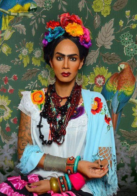 Les 119 meilleures images du tableau don 39 t be a drag sur pinterest dragster alaska et lady boys - Deguisement frida kahlo ...