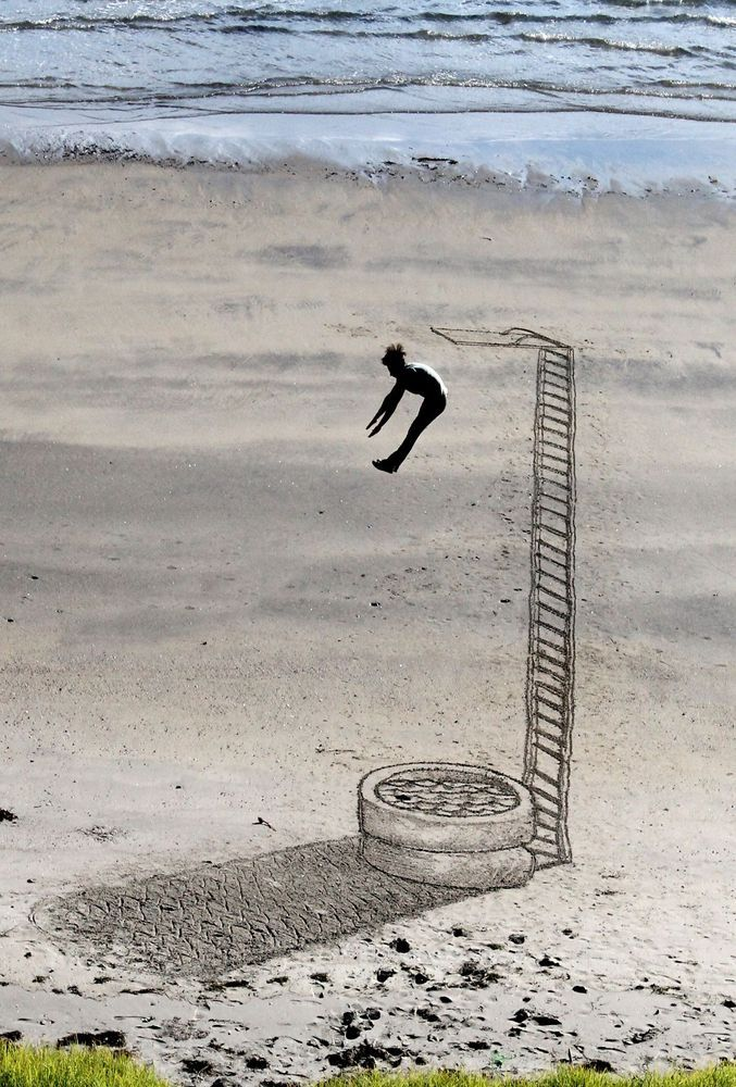 10 3D Sand Drawings That Prove Art Knows No Boundaries