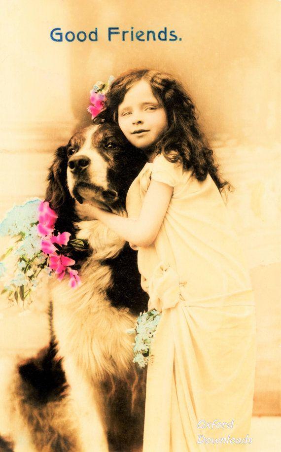 Good Friends Girl and Dog Digital Download by OxfordDownloads https://www.etsy.com/uk/listing/270334550/good-friends-girl-and-dog-digital?utm_source=Pinterest&utm_medium=PageTools&utm_campaign=Share