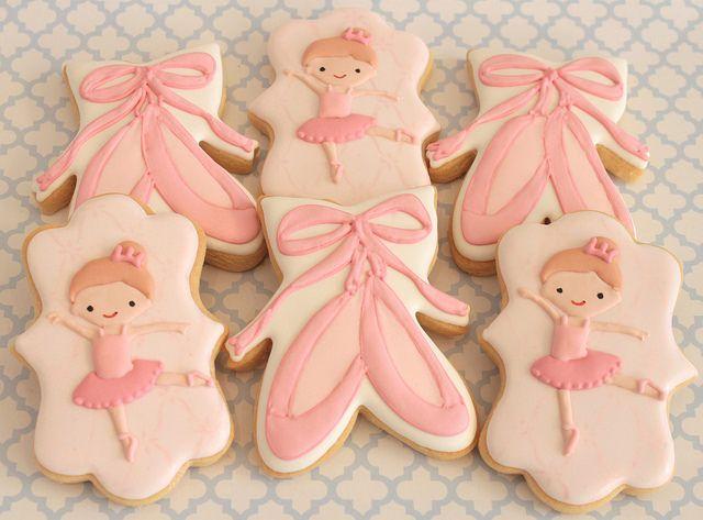Ballerina cookies by Miss Biscuit
