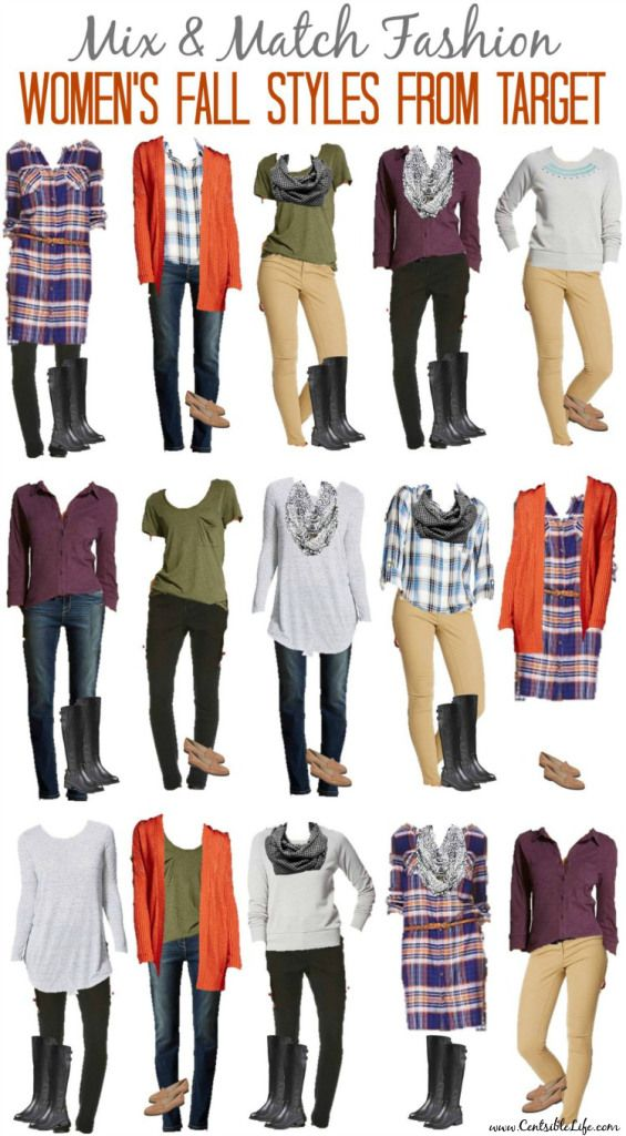 Create a fall fashion capsule with our Mix & Match Fall Fashion from Target. You'll get 15 looks (to start!) for around $250!