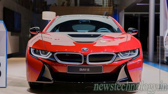 BMW i8 Protonic Red Edition  at Geneva Motor Show 2016.