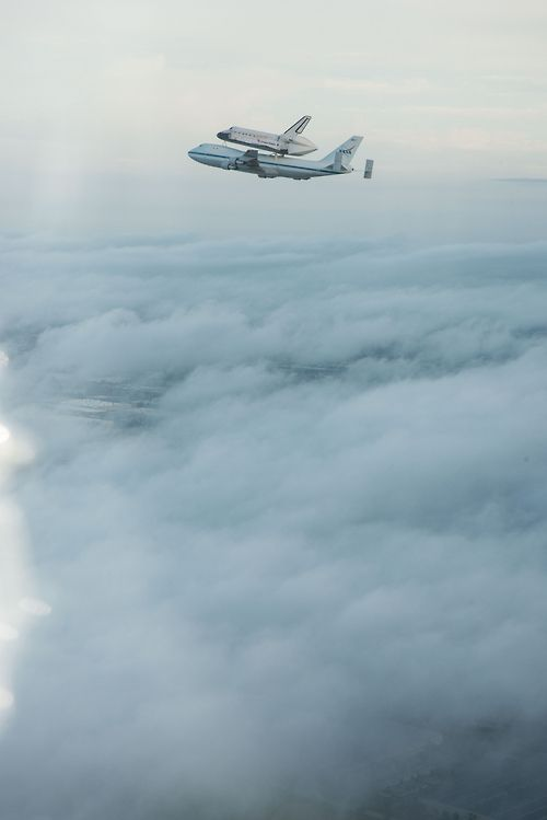 Above the Clouds Space Shuttle...