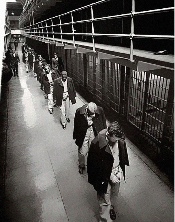 the history of the prison alcatraz On august 11, 1934, a group of federal prisoners arrived at alcatraz island, a  twenty-two-acre rock outcropping one-and-one-half miles offshore in san  francisco.