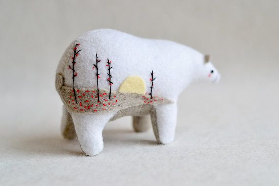 winter woods spirit bear